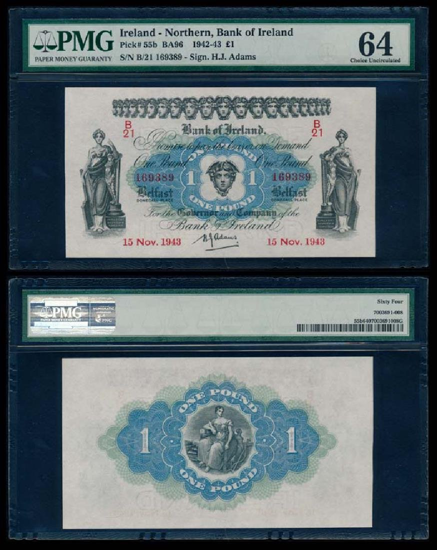 Ireland/Northern 1 Pound 1942-43 PMG