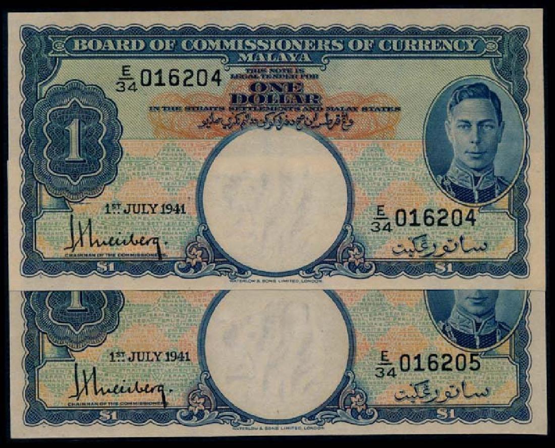 Malaya 2x$1 1941 KGVI