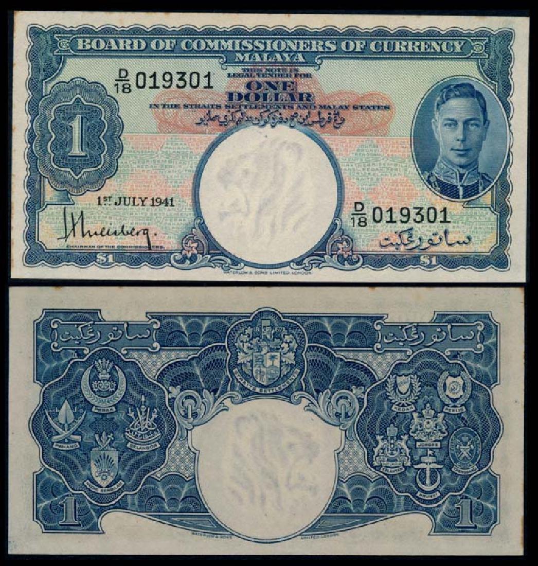 Malaya $1 1941 KGVI AU