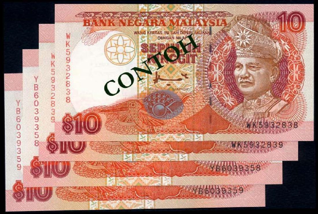 Malaysia 4x$10 1995-98