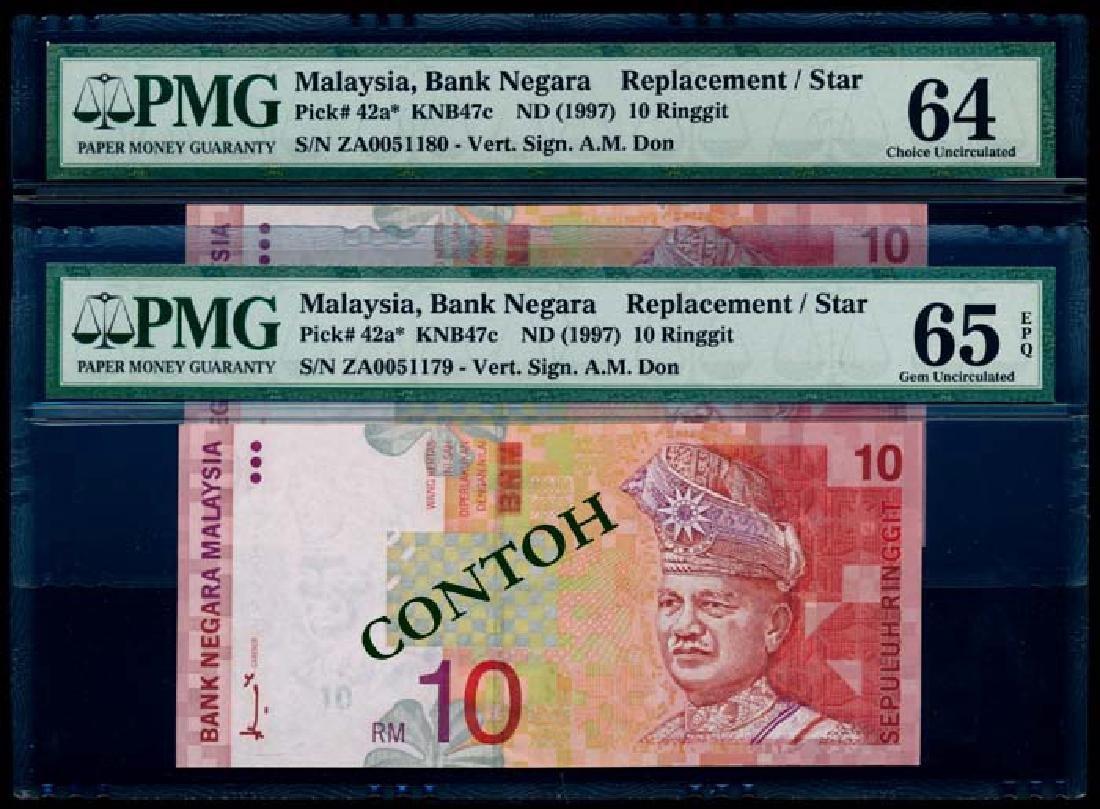 Malaysia 2xRM10 1996-98 replacement PMG