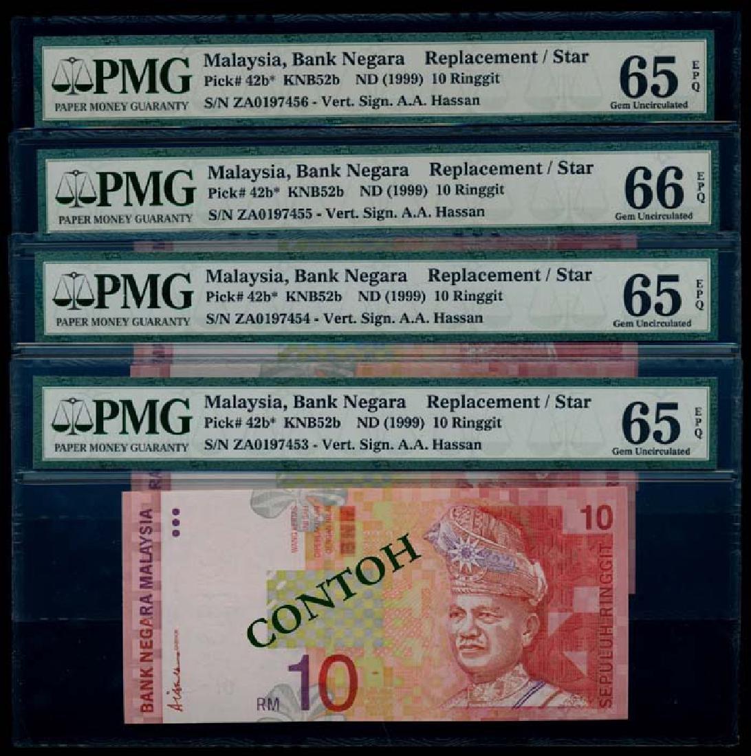 Malaysia 4xRM10 1999 replacement PMG