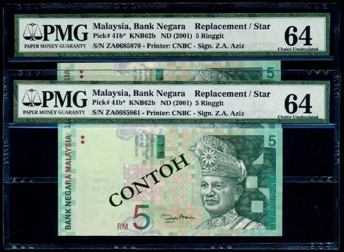 Malaysia 10xRM5 2000 replacement PMG
