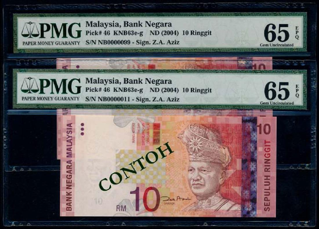 Malaysia 9xRM10 2000 PMG