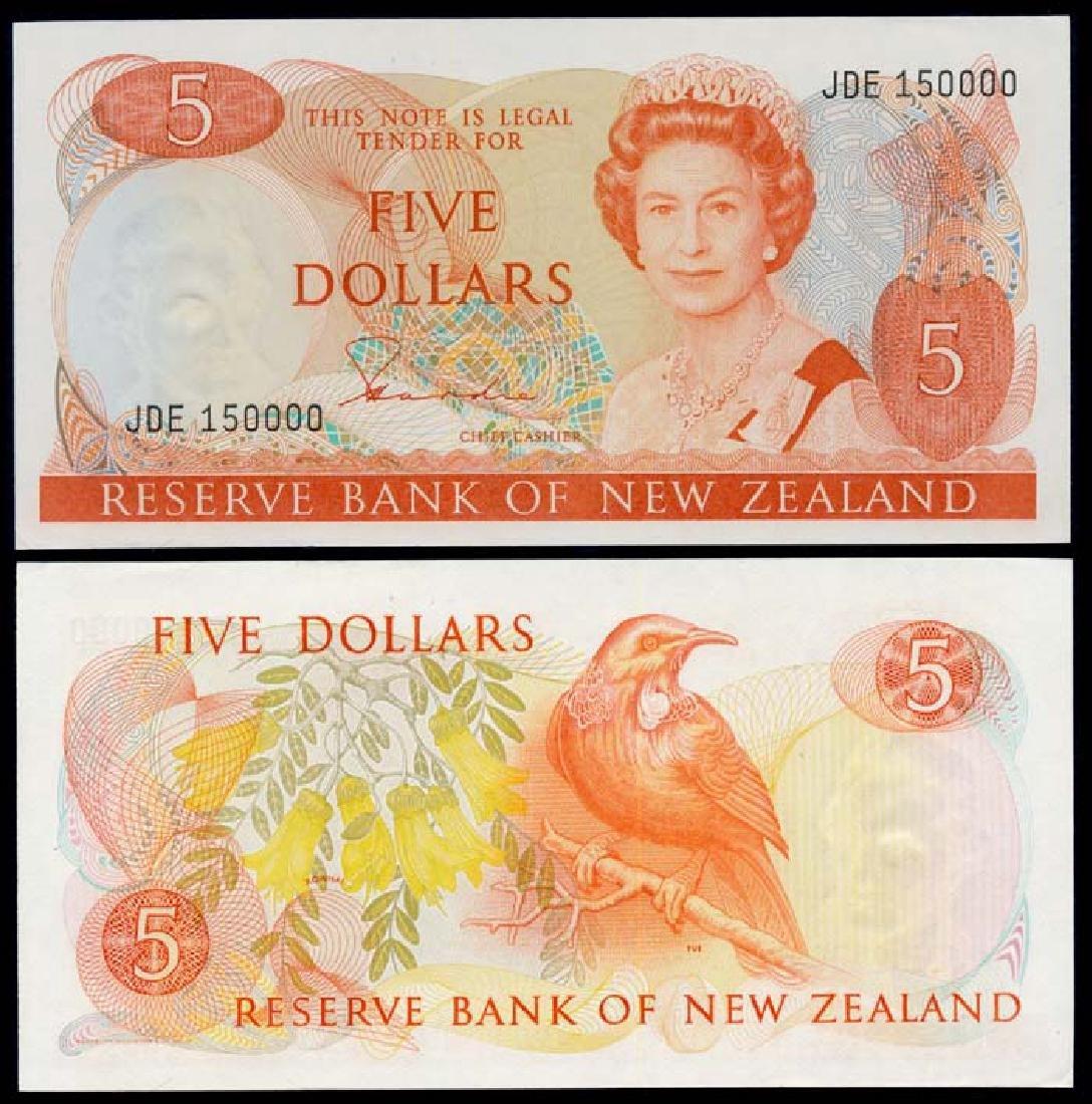 New Zealand $5 QEII 1981-85 GEF-AU