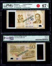 Singapore SG50 $50 SG50 123456 PMG
