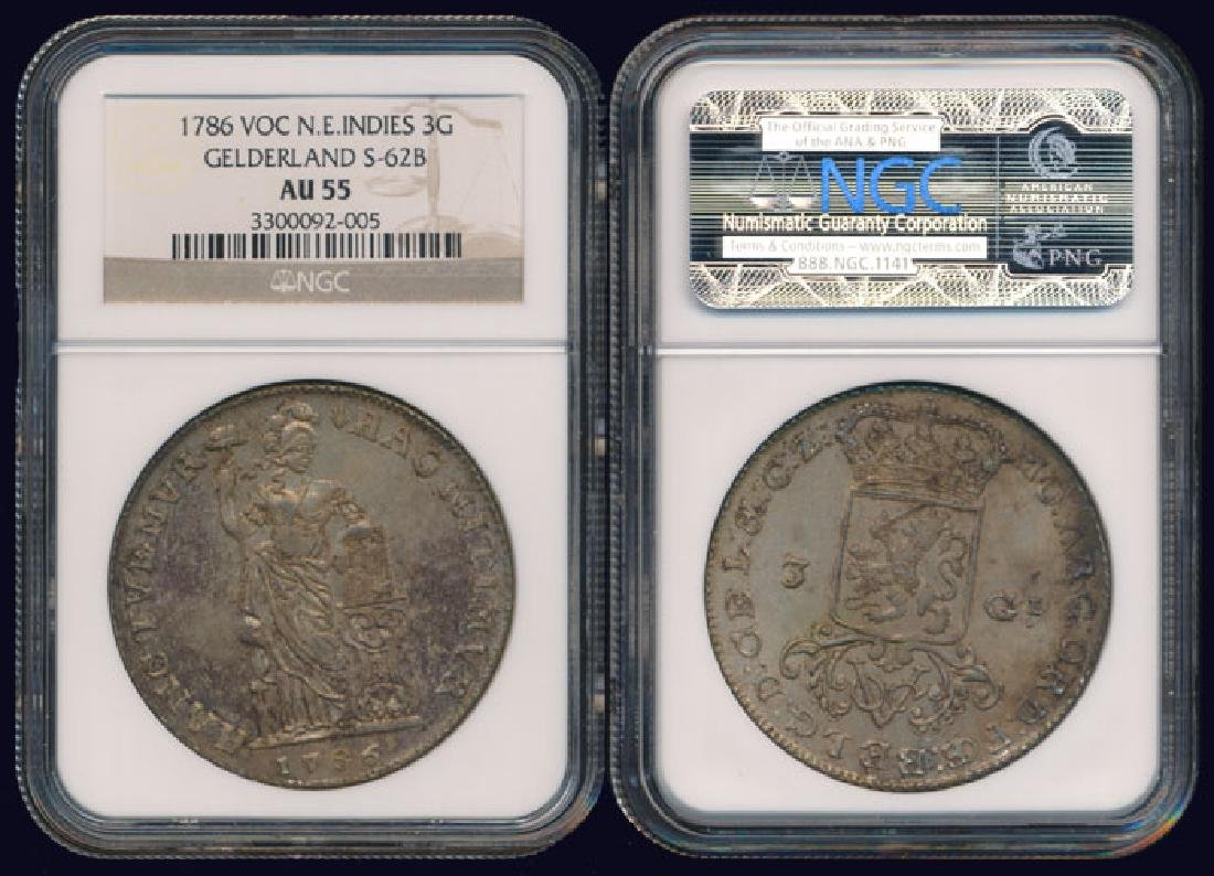 Netherlands East Indies 3 Gulden 1786