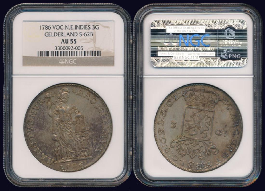 Netherlands East Indies 3 Gulden 1786