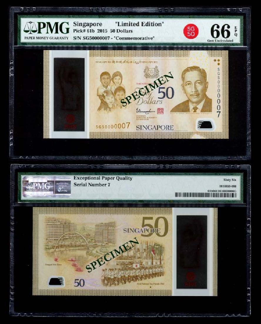 Singapore SG50 $50 SG50 000007 PMG