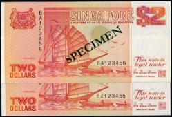 Singapore 24x$2 1990 ship orange all 123456