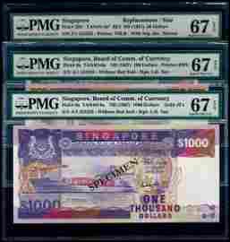 Singapore $50-$1000 1984-87 ship all 555555