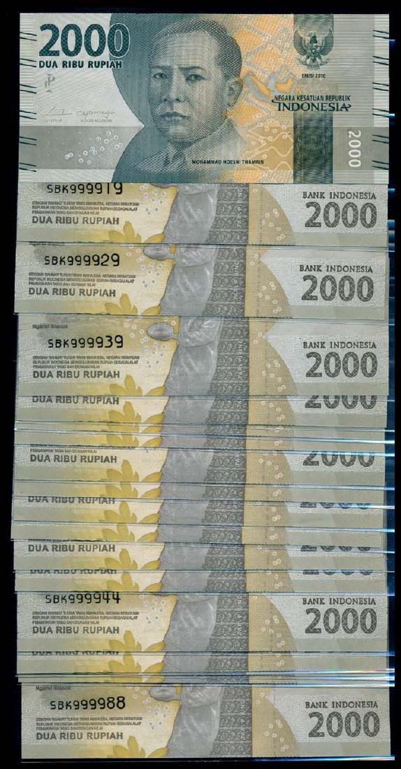 Indonesia 18x2000 Rupiah 2016/17