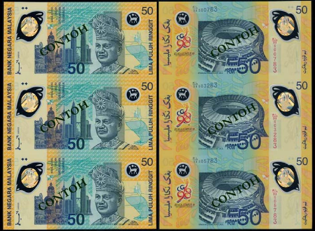 Malaysia RM50 1996-98 3-in-1