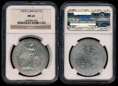 British Trade Dollars 1907B NGC MS62