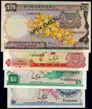 4 Singapore $1-$25 1967-72 all A/1 000009