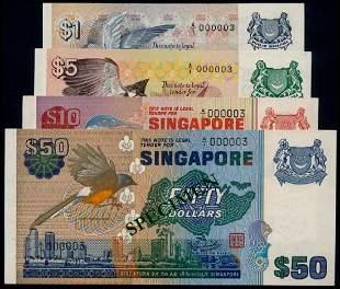 4 Singapore $1-$50 1976 bird all A/1 000003