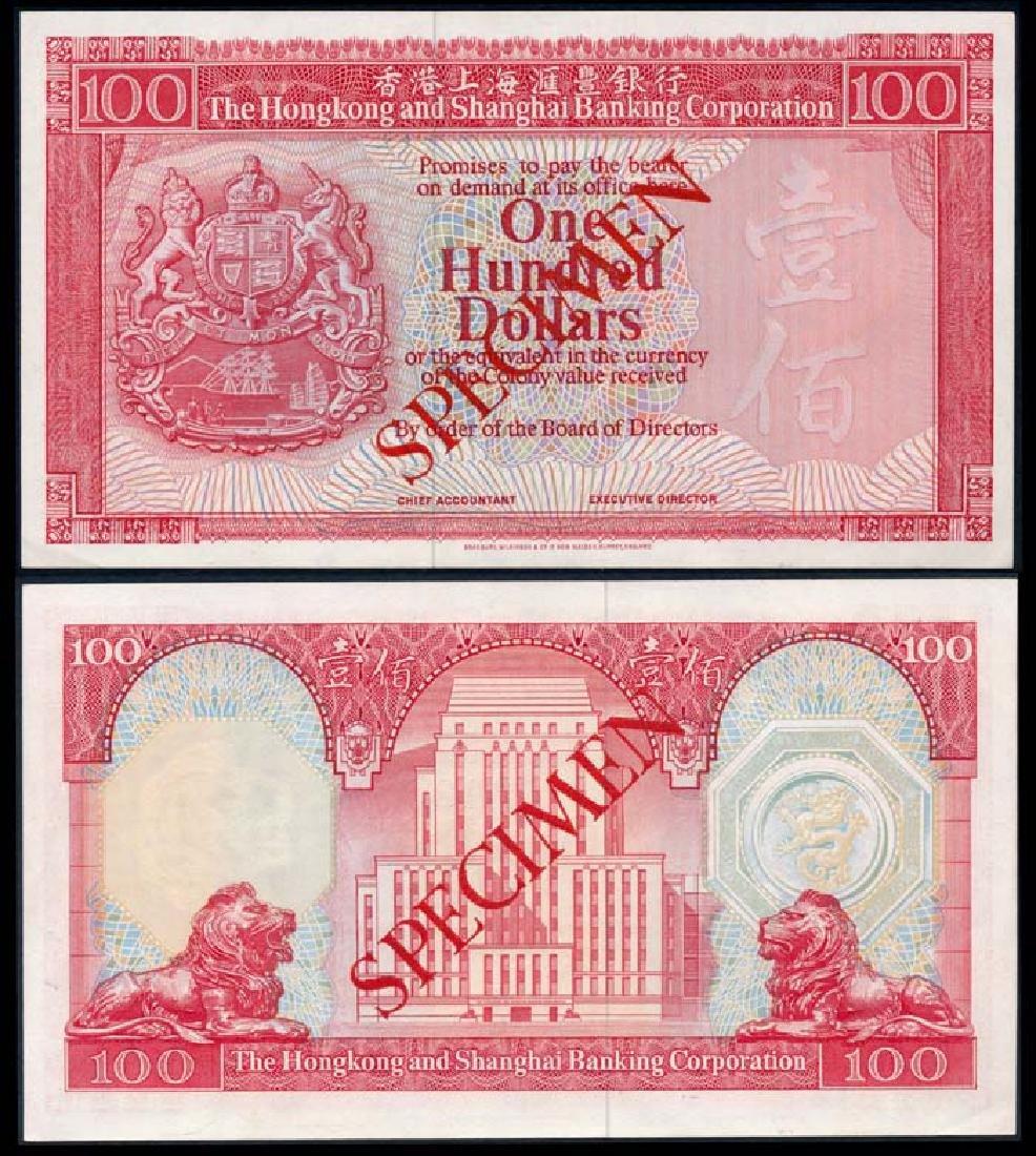 Hong Kong $100 1977-83 specimen - Jul 12, 2019 | Mavin