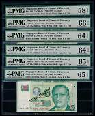 Singapore 6x$5 1999 HTT 1st prefix PMG