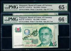 Singapore 2x5 1999 HTT 1st prefix PMG
