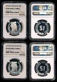 2 Singapore $1 1976-77 proofs NGC PF68UC