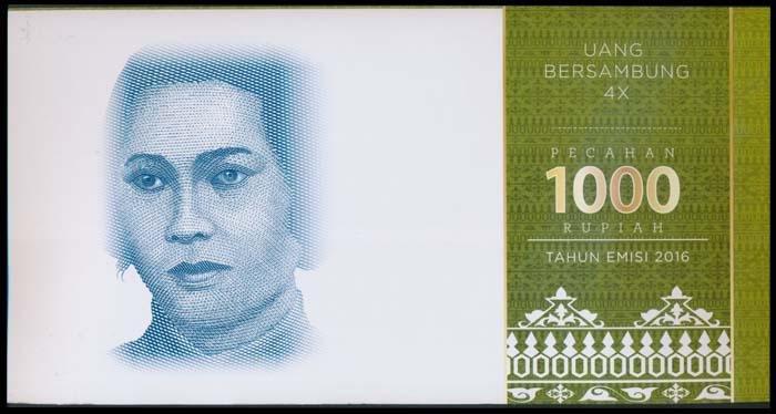 2 Indonesia 1000 Rupiah 2016 4-in-1