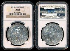 British Trade Dollars 1899B NGC MS62