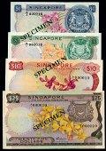 Singapore $1-$25 1967-72 LKS A/1 000010