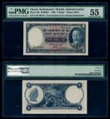 Straits Settlements $1 1935 KGV PMG AU55