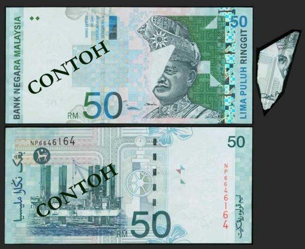 521: Malaysia $50 2000 11th series B64 error EF