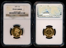 United States $3 1879 proof NGC PF63 Cameo