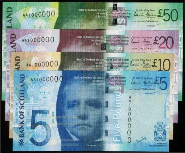 1280: 4 Scotland 5-50 Pounds all AA 1000000