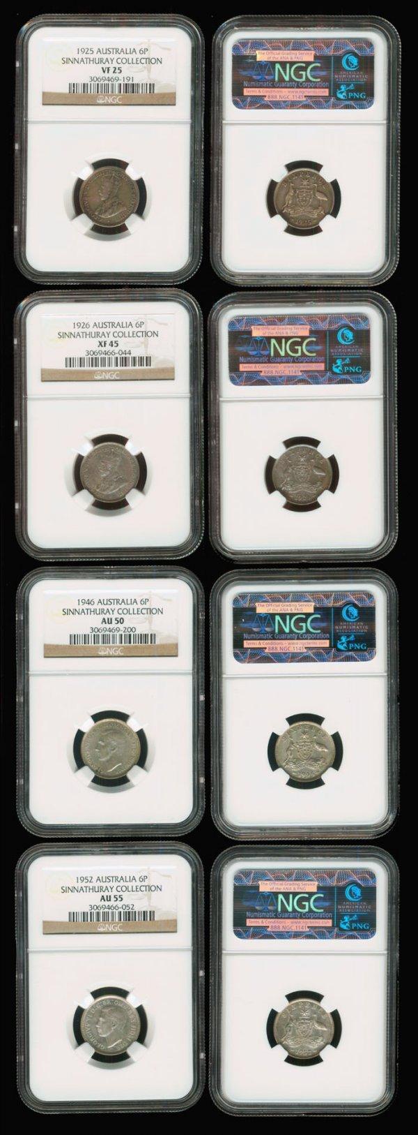 15: 4 Australia KGV-KGVI  6d 1925-52 NGC