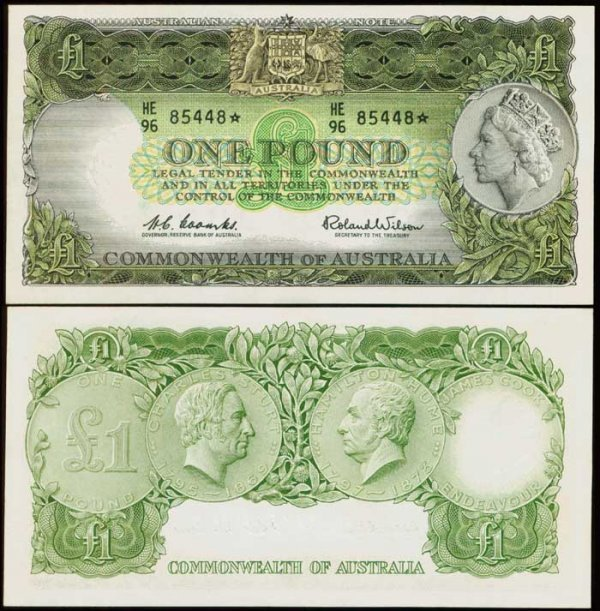 1009: Australia Pound QEII 1953-60 P30 replacement
