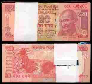 India 100x20 Rupees 2017