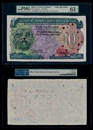 Malaya Br Borneo $10 A/1 000000 PMG