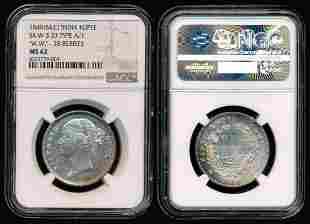 India British India QV Rupee 1840(B&C) NGC