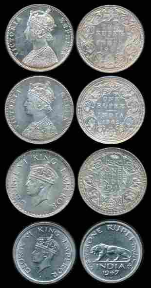 4 India British India Rupee 1862-1947
