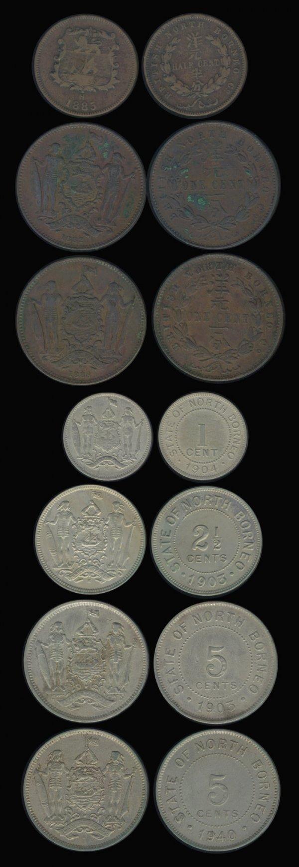 3: 33 Br North Borneo 1/2C-25C 1885H to 1941H