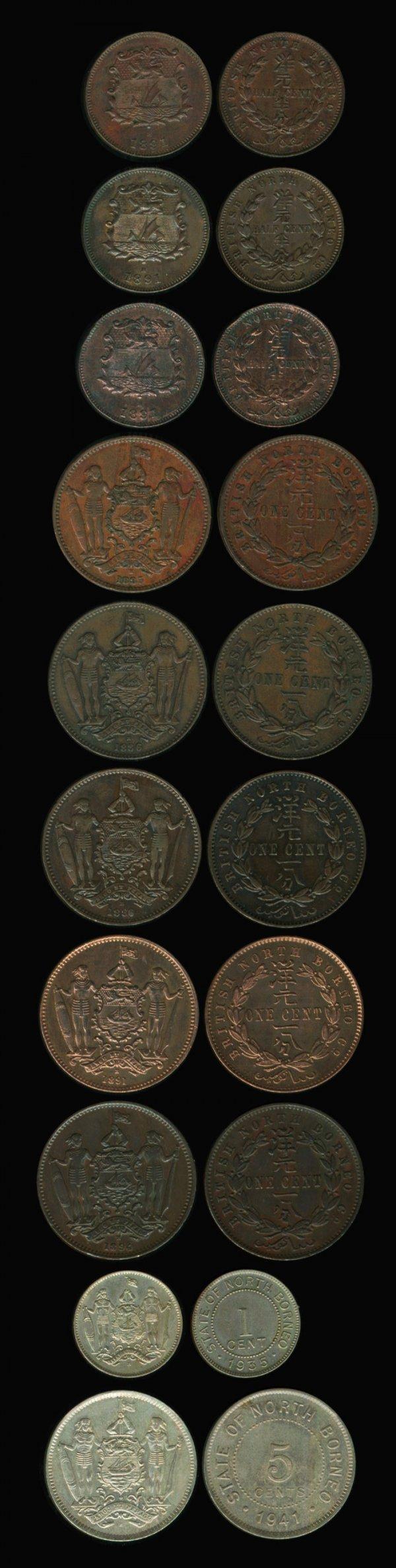 6: Br North Borneo 1/2C 1C 5C1885H-1941H (10)