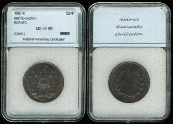 16: Br North Borneo Cent 1887H NNC MS66BR