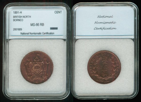 20: Br North Borneo Cent 1891H NNC MS66RB