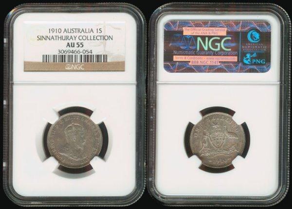 3: Australia KEVII Shilling 1910 NGC AU55