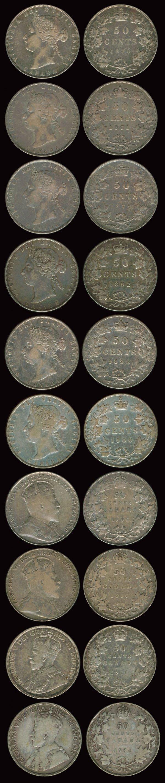 49: 27 Canada QV-KGV 50c 1870-1910