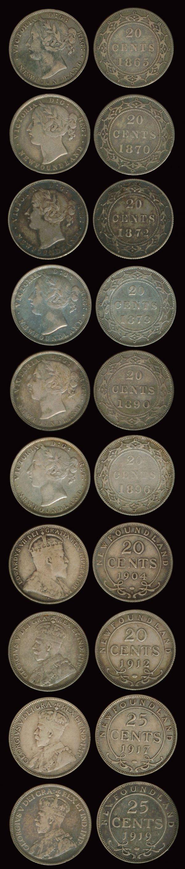 53: 34 Canada QV-KGV 20c-25c 1865-1919