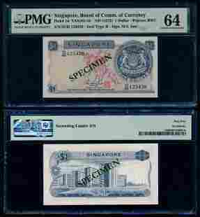 Singapore $1 1972 HSS w/seal PMG