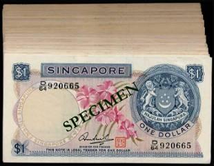 Singapore 100x$1 1972 HSS w/seal