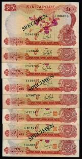 Singapore 8x$10 1967-70