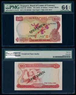 Singapore $10 1970 GKS PMG
