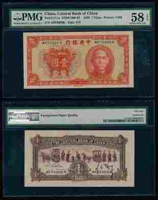 China 1 Yuan 1936 PMG Choice AU58EPQ