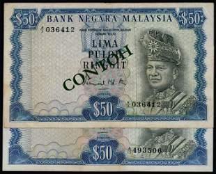 Malaysia 2x$50 1967-72